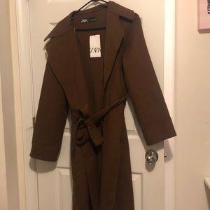 Brown zara coat NWT